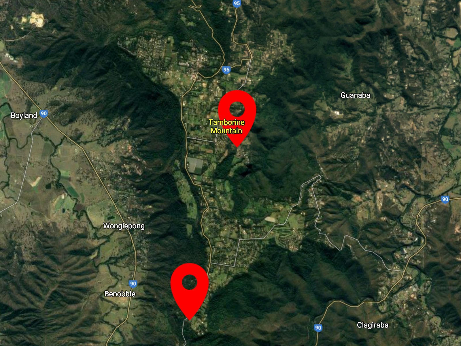 Tamborine Mountain Clickable Map