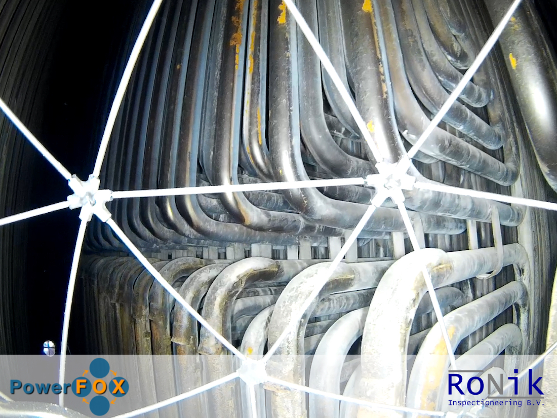 This is a photo of a boiler tube inspection